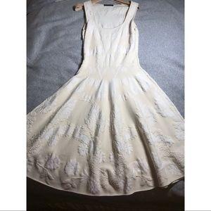 Alexander McQueen embossed floral mid length dress